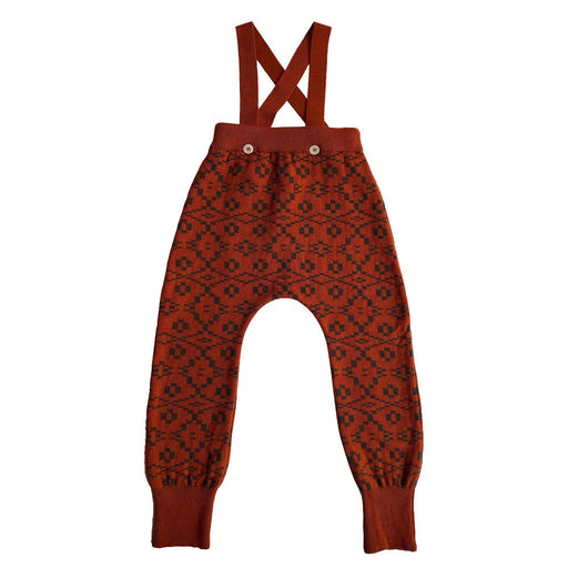 Brick Red Patterned Miner Pants