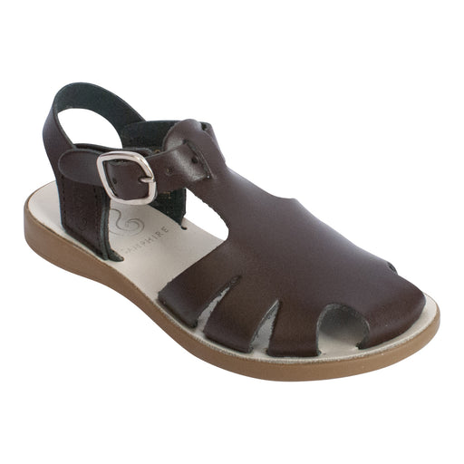 Kids Brown Closed Toe Sandals