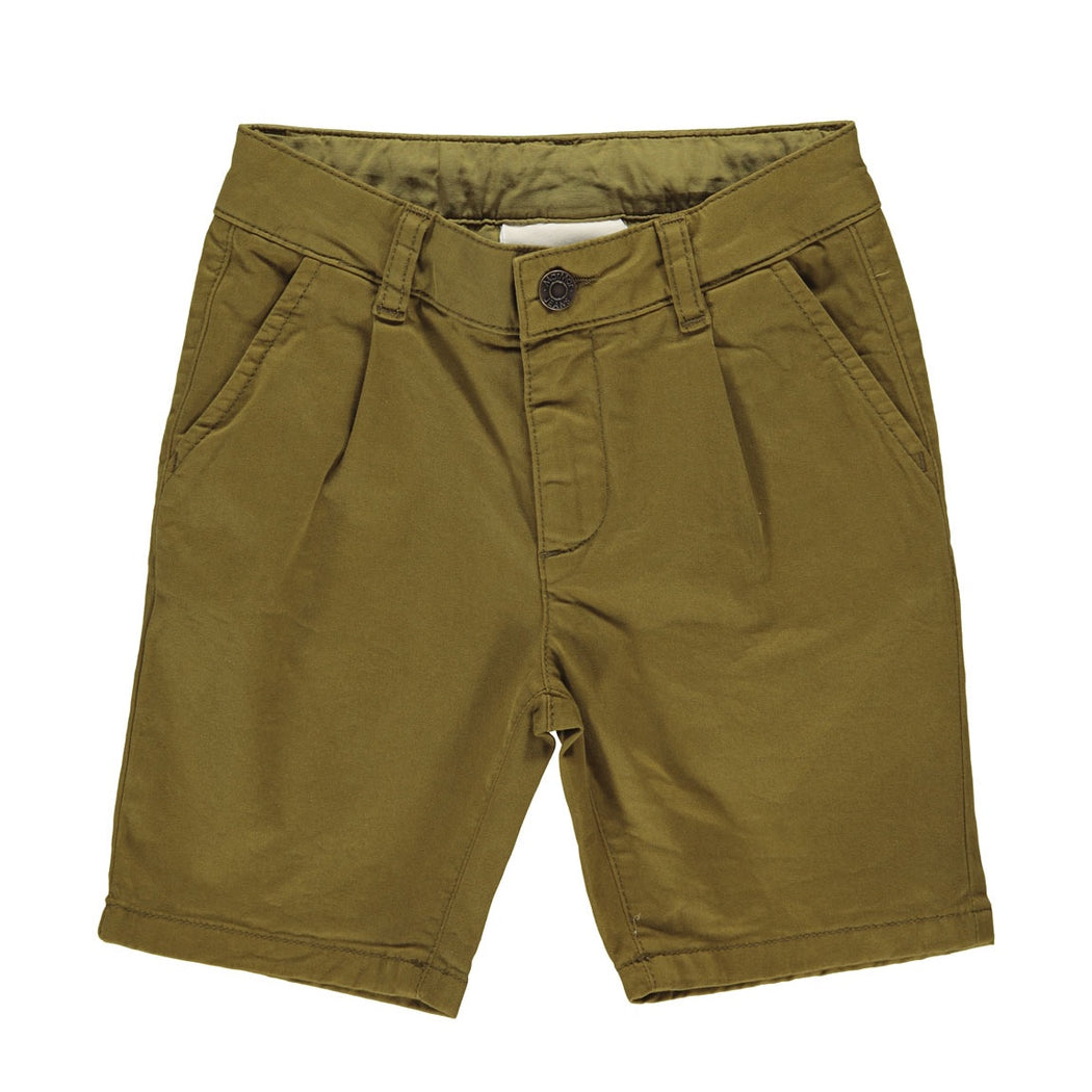 Olive Chino Kids Shorts