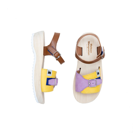 Araza Lilac Yellow Sandals