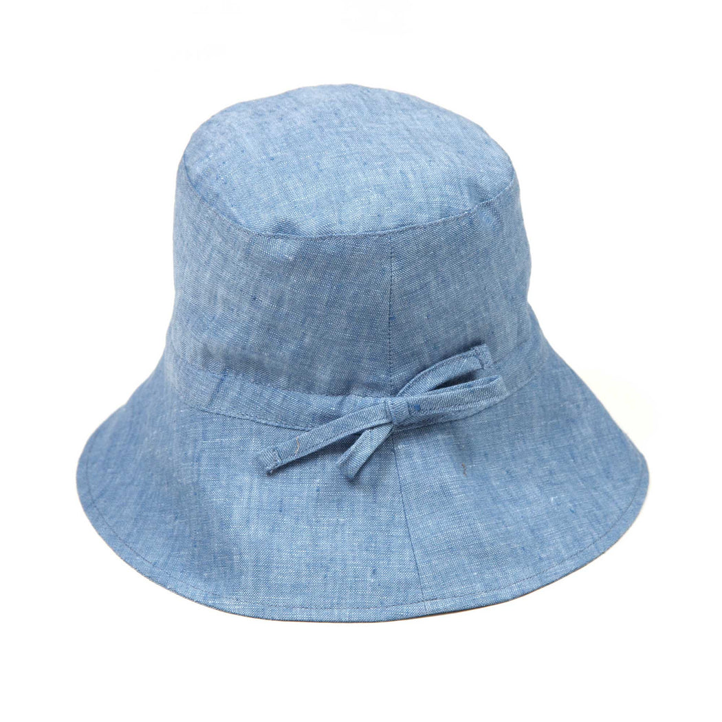 Blue Linen Bucket Hat