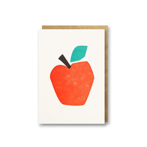 Apple Letterpress Mini Card