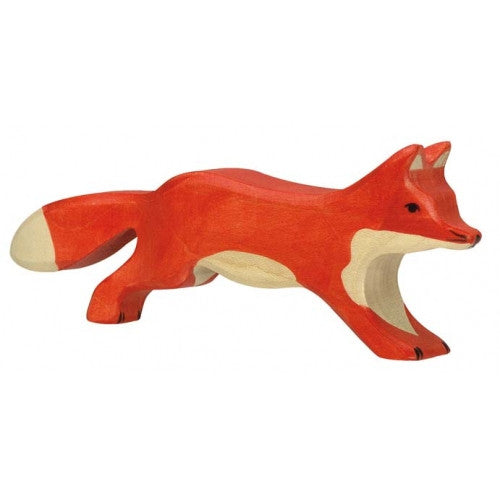 Wooden Running Fox