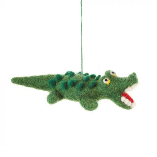 Felt Crocodile Hanging Decoration