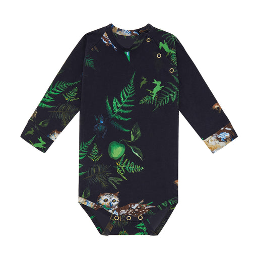 Night Forest Print Long Sleeved Baby Body