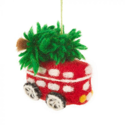 Felt London Bus with Tree