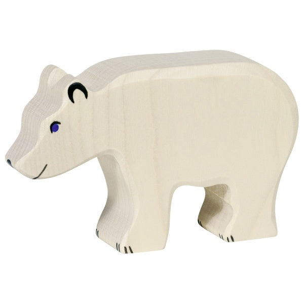 Wooden Polar Bear Cub