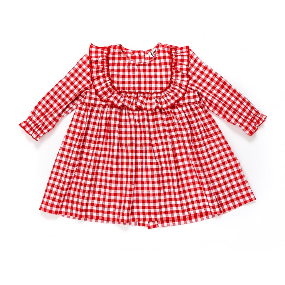 Red Gingham Kids Dress