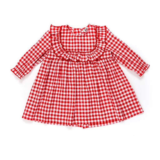 Kids Red Gingham Dress