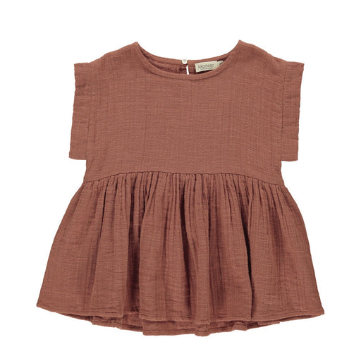 Dusty Brick Muslin Kids Top