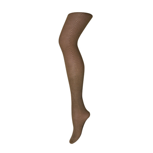 Dull Gold Chervon Stripe Tights