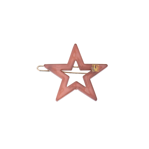 Chestnut Brown Star Hair Clip