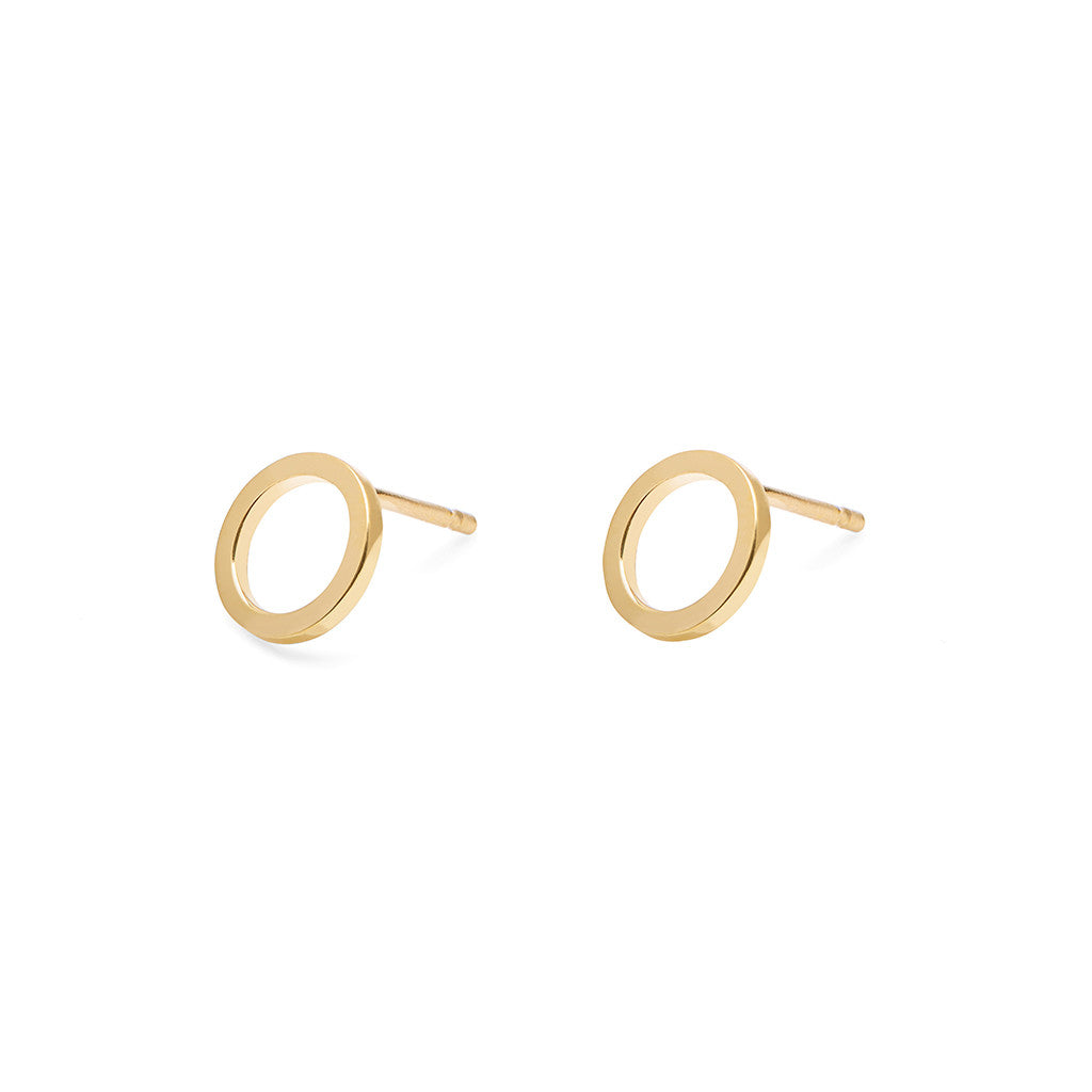Mini Circle Square Stud Earrings
