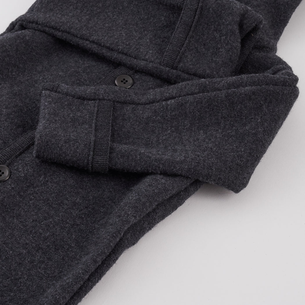Grey Wool Kids Overall