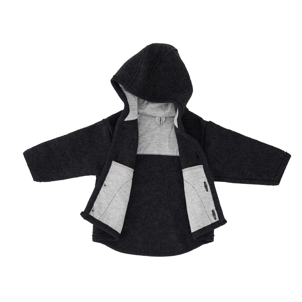 Dark Grey Wool Kids Jacket