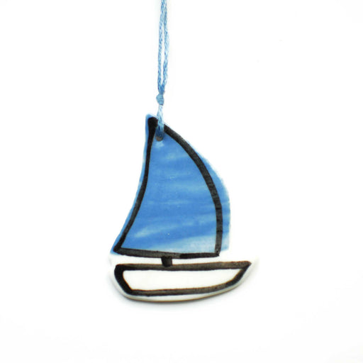Sail Boat Ceramic Decoration