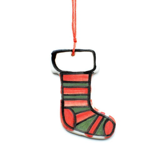 Stocking Ceramic Decoration