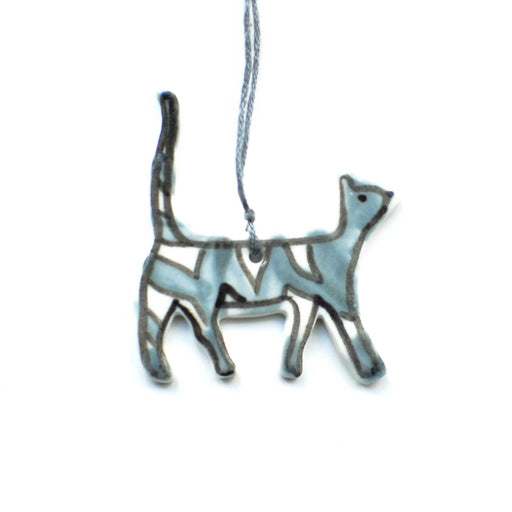Tabby Cat Ceramic Decoration
