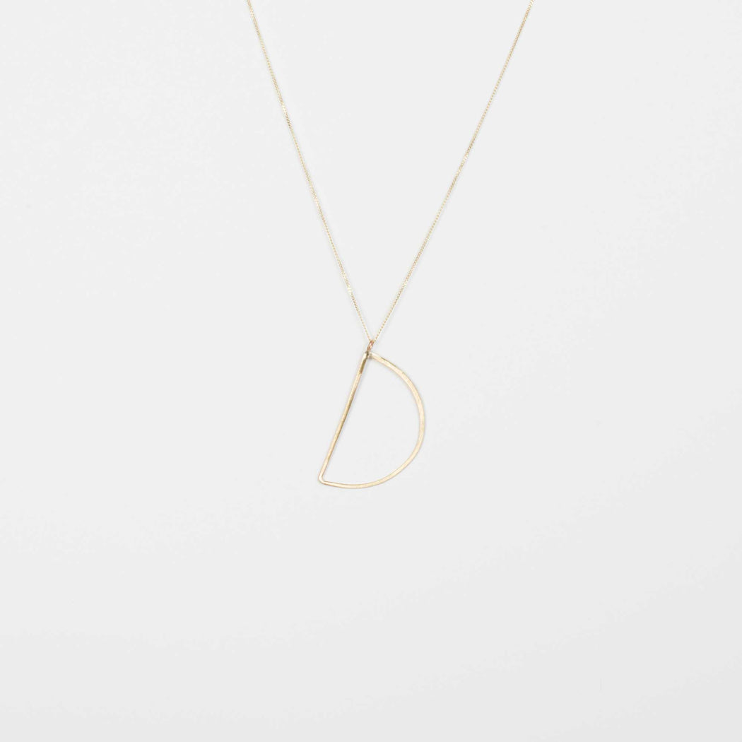 Gold Karin Font Necklace