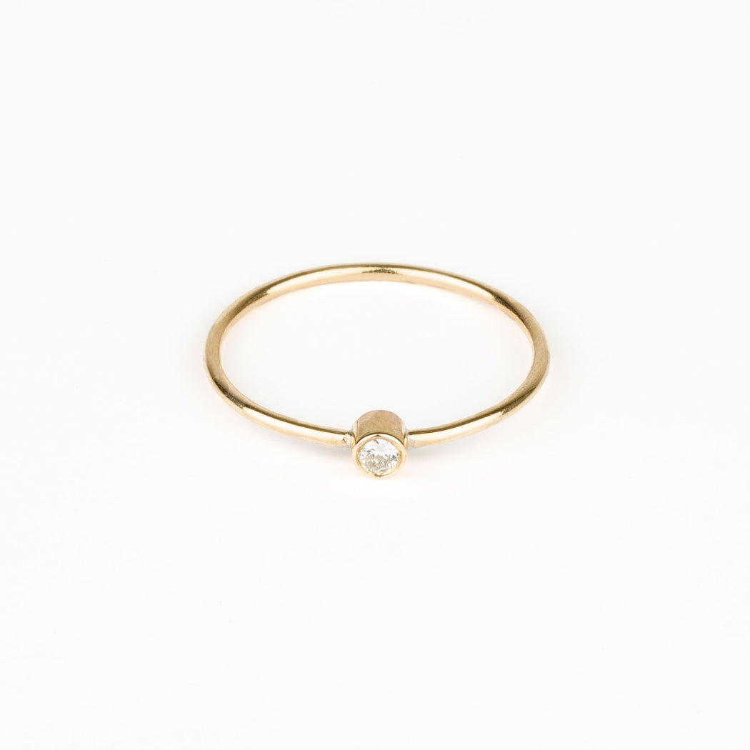 Diamond Dot Gold Ring