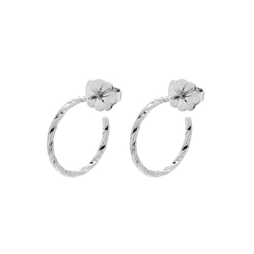 Mini Diamond Hoop Earrings