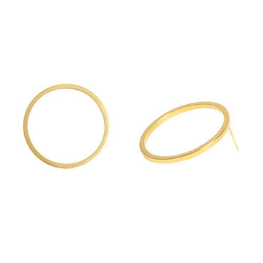 Encircle Hoop Stud Earrings