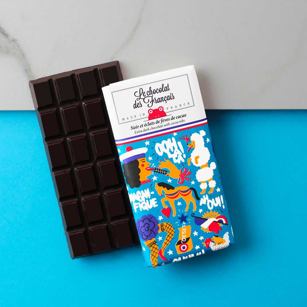 Panache Extra Dark with Cocoa Nibs Chocolate Bar