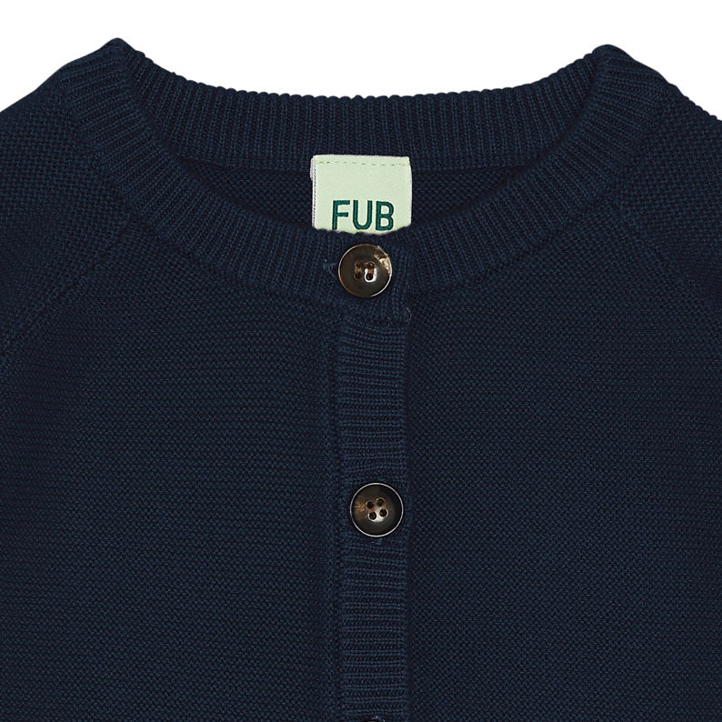 Navy Cotton Baby Cardigan