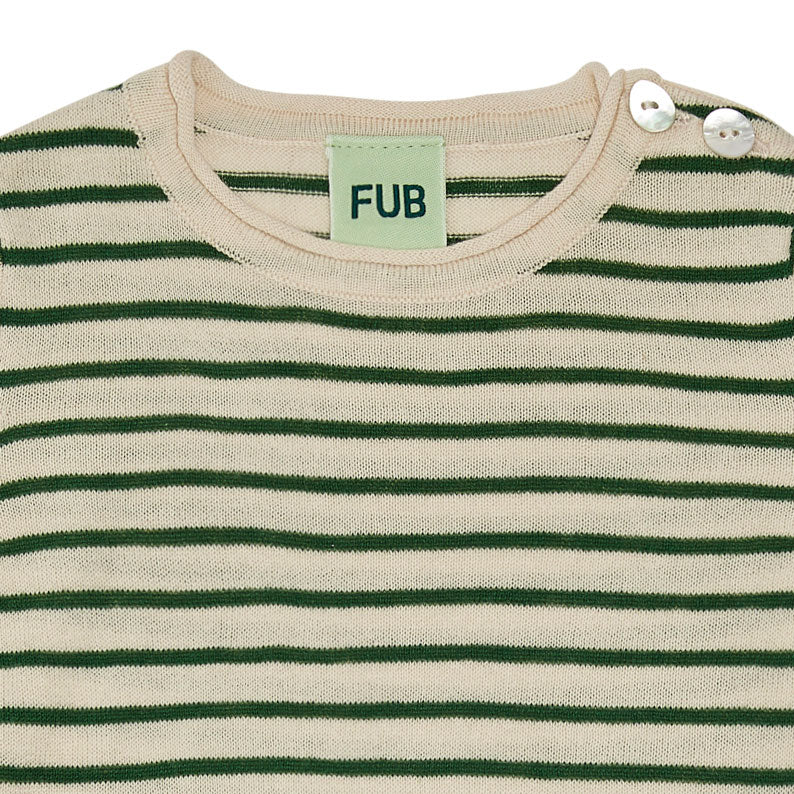 Forest Stripe Short Sleeve Baby Body