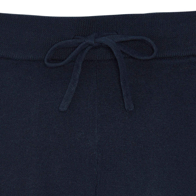 Navy Cotton Baby Trousers
