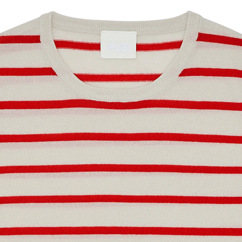 Red Stripe Wool Top