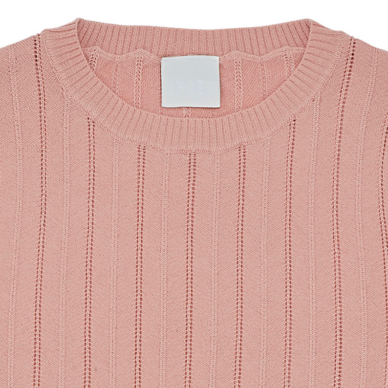 Blush Pointelle Wool Top