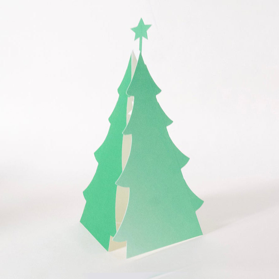Festive Forest Cut Out Card