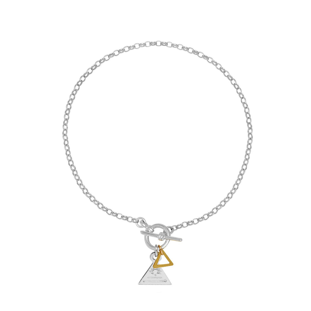 Triangle Ring and Bar Bracelet