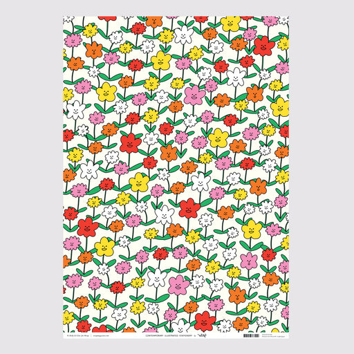 Happy Flowers Wrapping Paper