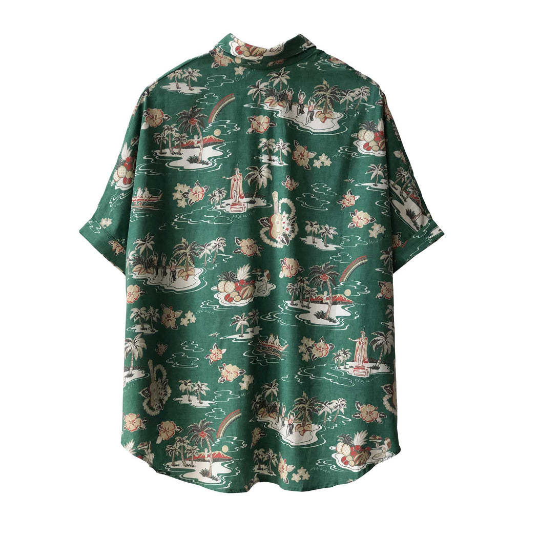 Green Hawaiian Shirt