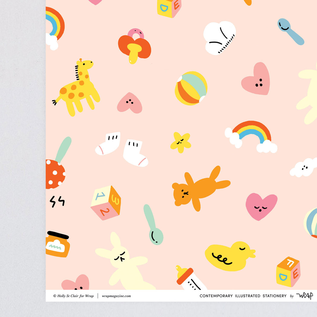 Hey Baby Wrapping Paper