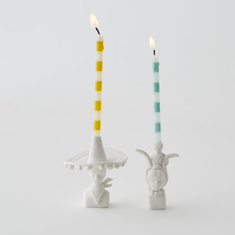 Mr & Mrs Jones Carnival Candle Holders