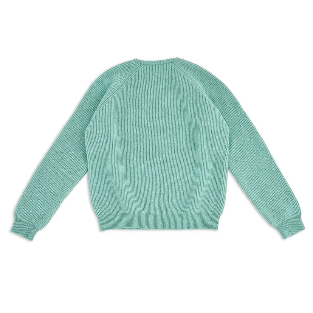 Pastel Green Rib Jumper