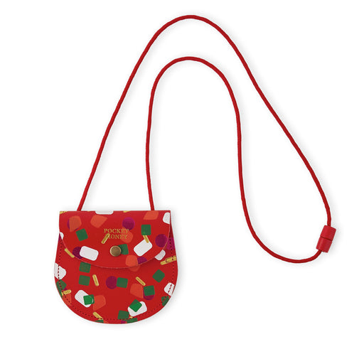 Red Tutti Frutti Pocket Money Purse