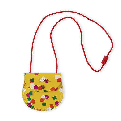 Yellow Tutti Frutti Pocket Money Purse