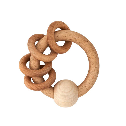 Wooden Baby Ring with Four Rings