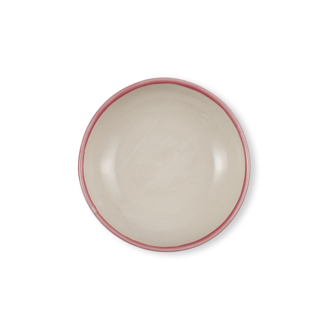 Rose Pink Shallow Bowl