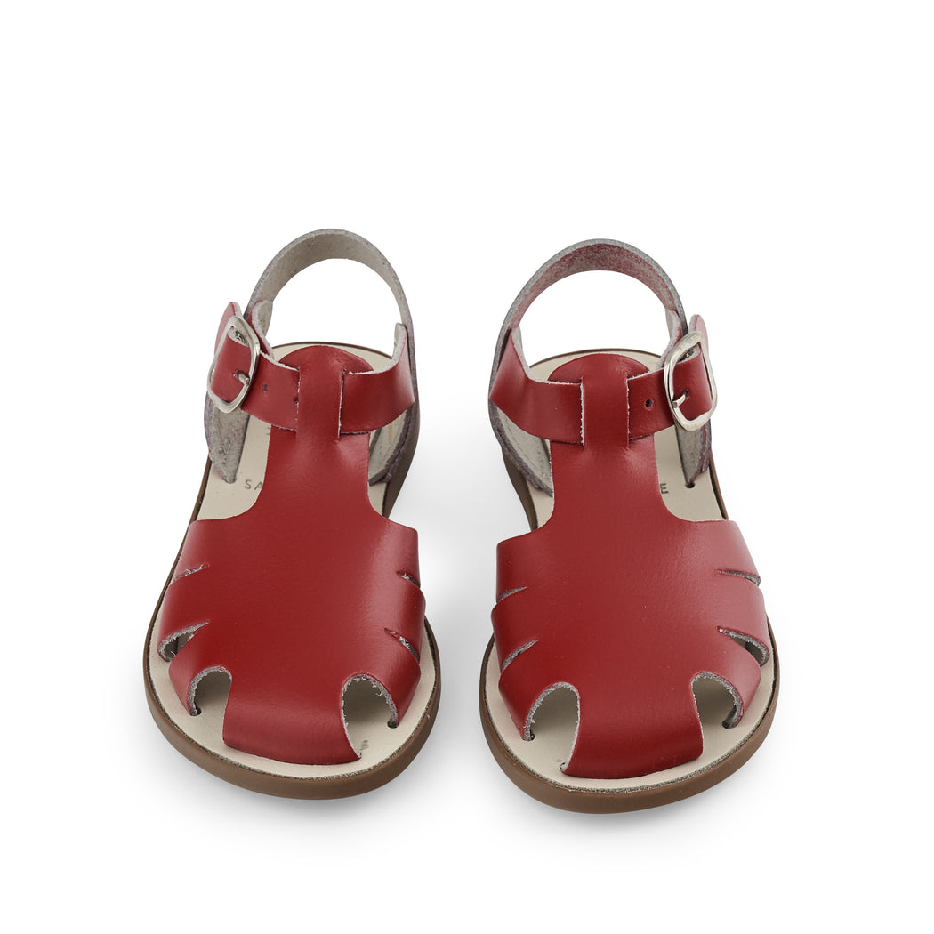 Red Closed Toe Sandal