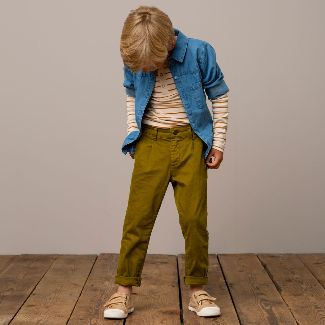 Olive Chino Kids Trousers
