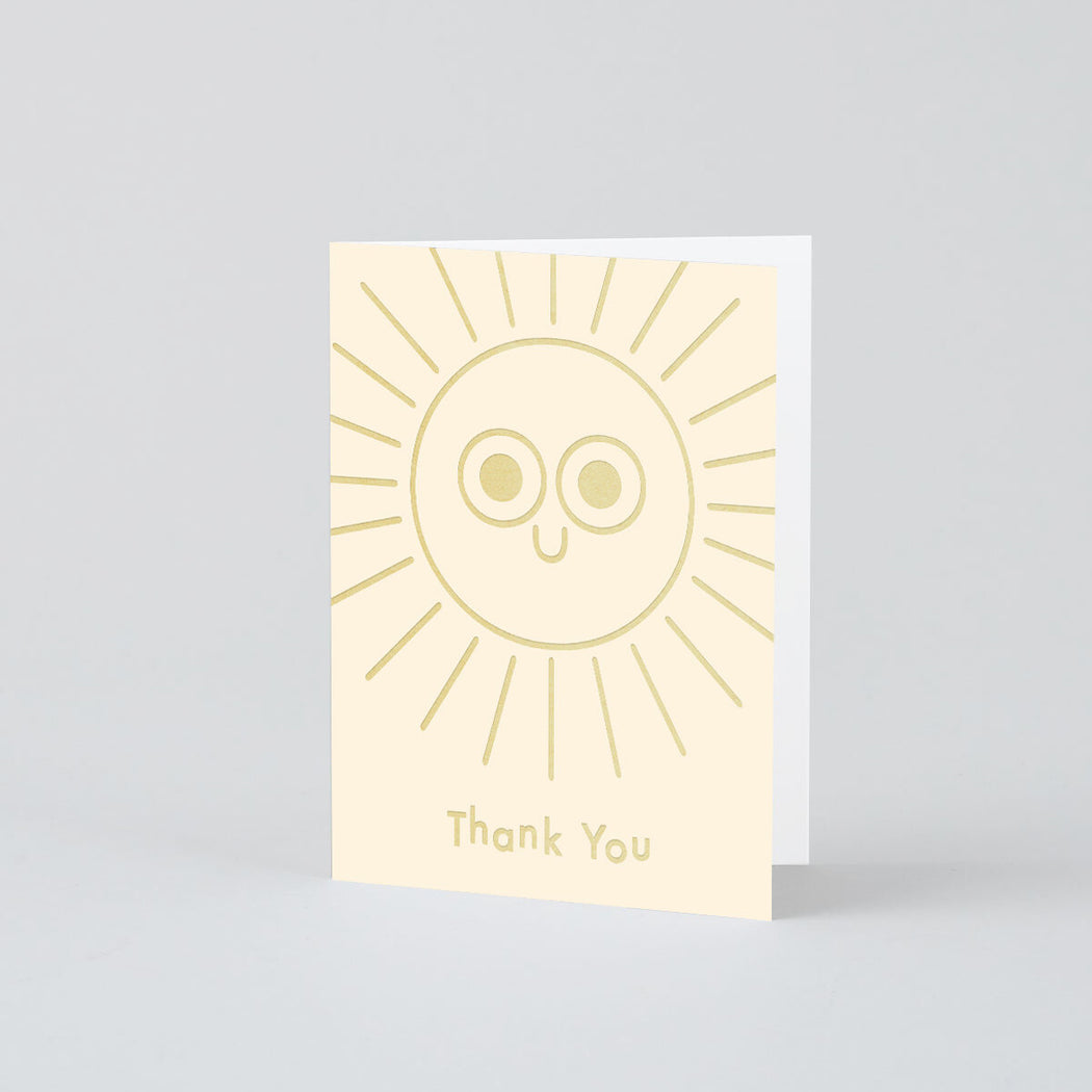 Thank You Sun Mini Foiled Card