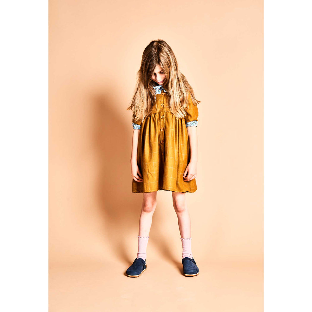 Mustard Babydoll Dress