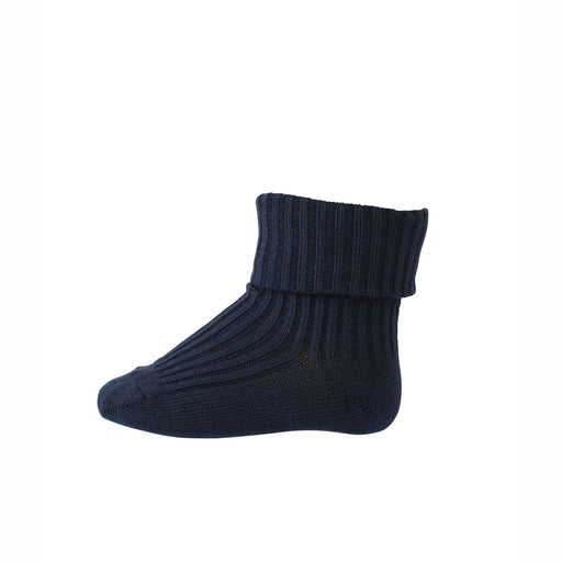 Navy Ribbed Baby Socks