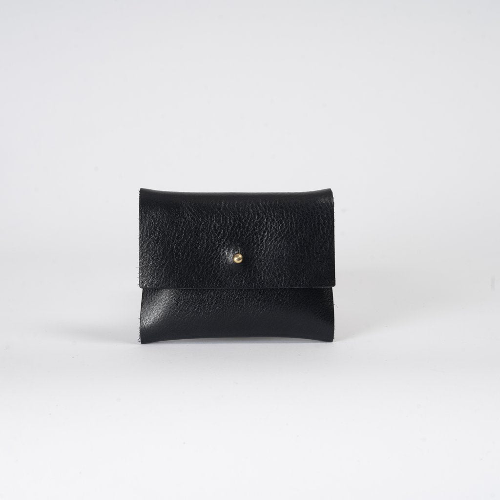 Shiny Navy Leather Wallet