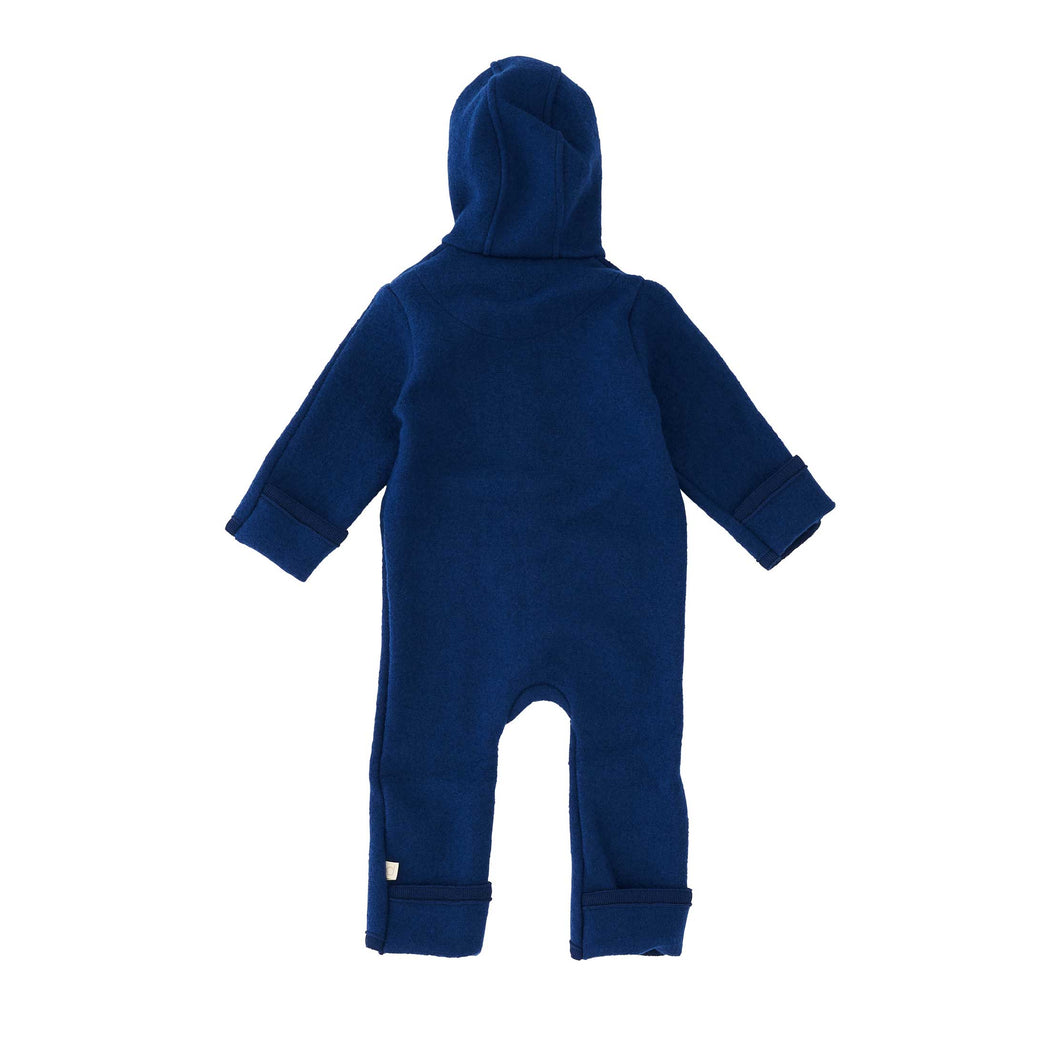 Navy Wool Kids Overall